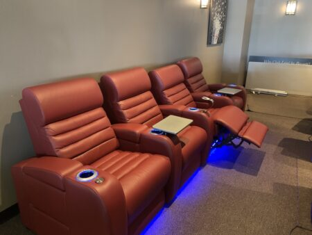 theater seating, luxury leather