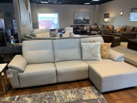 El ran reclining sectional with dual reclining headrest and power recline seat