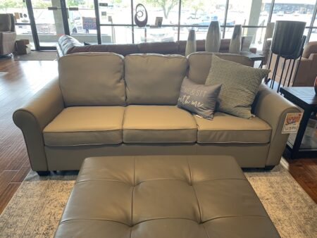 The Swinden sofa bed blends traditional styling with cutting edge technology. The sofa bed features European sizing, a modern roll-arm and a beautiful welt detail. It also has a 1-inch top layer of gel-infused memory foam that dissipates heat, keeping the body cool and comfortable while offering conforming support for ultimate sleep. Designed to be comfortable when used as a sofa, the Swinden features attached seat and back cushions that remain attached during opening and closing, eliminating the need to be stored when used for sleeping. To ensure a comfortable sleep, there is a 1-inch middle layer offering plush comfort for quality rest and a 3-inch bottom layer of high-density foam for the perfect balance of support. The transition from sofa to bed is seamless with the utilization of the European mechanism. Designed to be used in any living room or guest room, the Swinden sofa bed is available in European double and queen sizes.